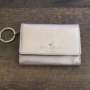 Kate Spade Rose Gold Mini Wallet